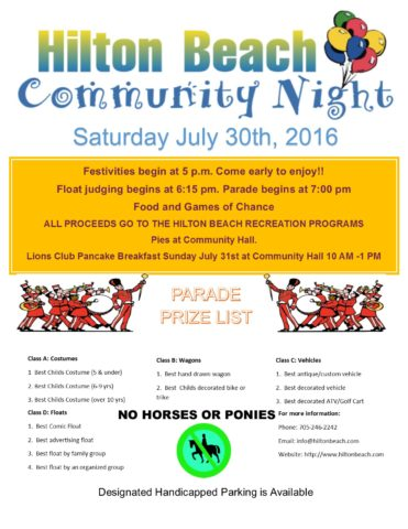Community Night 2016 poster